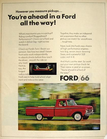 1966 Ford Pickup Truck Ad