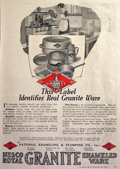 1922 Nesco Royal Graniteware Ad
