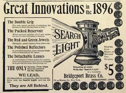 Antique Search Light Bicycle Lantern Ad