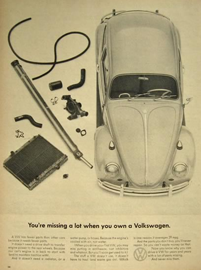 1966 Volkswagen VW Beetle Ad ~ You're Missing A Lot