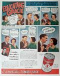 1936 Campbell's Tomato Juice Ad ~ Burns & Allen