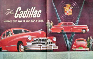 1946 Cadillac Ad ~ Two Pages