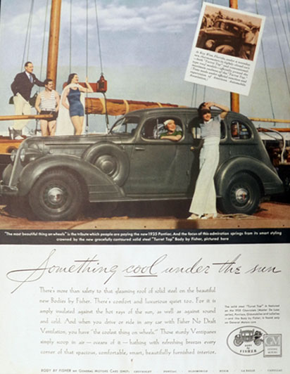 1935 Body by Fisher Pontiac Ad ~ Something Cool