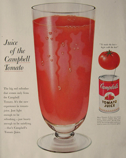 1955 Campbell's Tomato Juice Ad