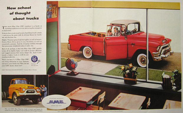 1955 GMC Town & Country Runabout Pickup Truck Ad