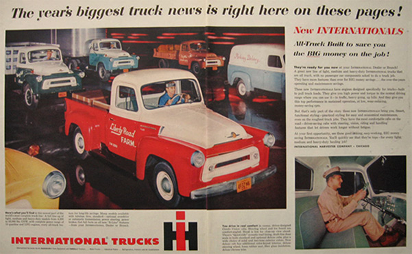 1955 International Harvester Truck Ad ~ Liberty Road Farm
