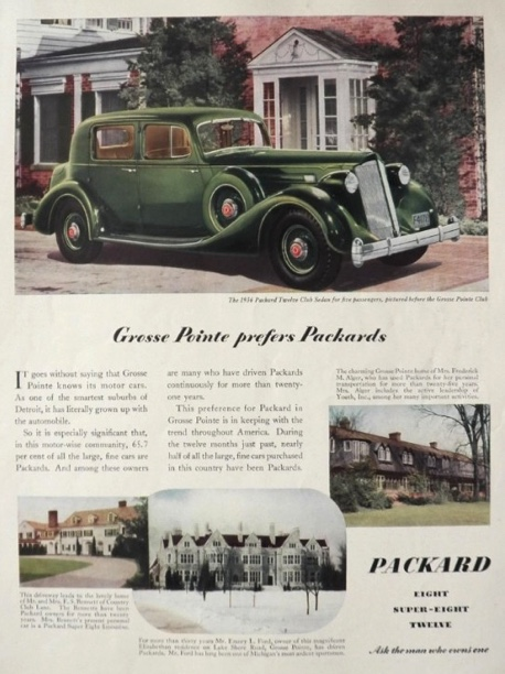 1936 Packard Ad ~ Grosse Pointe Photos