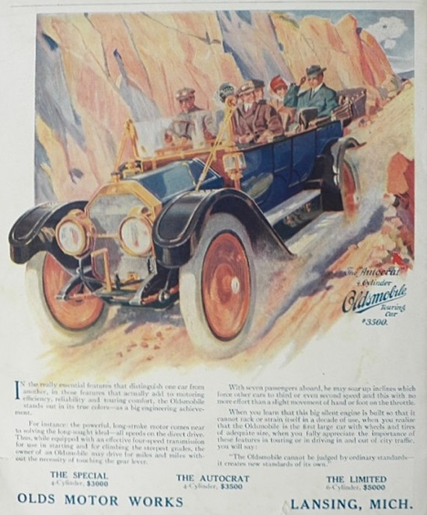 1911 Oldsmobile Autocrat Ad ~ Olds Touring Car