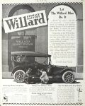 1915 Willard Service Station Photo Ad ~ Battery Expert