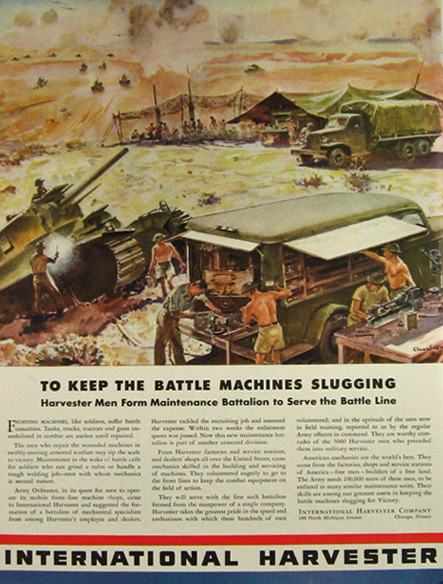 1942 WWII International Harvester Army Vehicle Ad