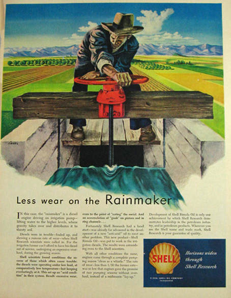 1948 Shell Oil Ad ~ Frederick Siebel Rainmaker