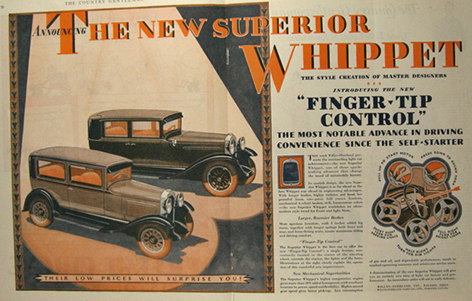 1929 Willys Overland Whippet Ad