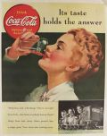 1939 Coca Cola Coke Ad ~ Its Taste Holds the Answer
