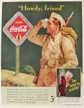 1942 Coca Cola Coke Ad ~ Thirsty Soldier