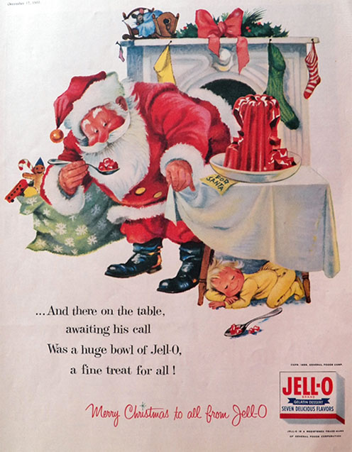 1955 Jello Ad ~ Jello For Santa