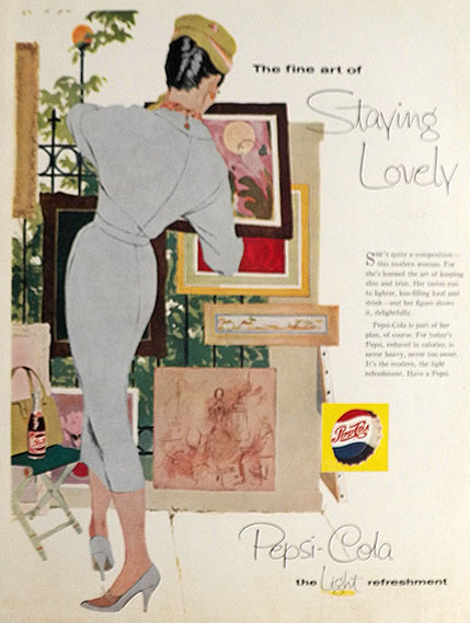 1958 Pepsi Cola Ad ~ Staying Lovely