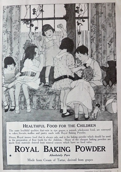 1917 Royal Baking Powder Ad ~ Healthful for Children