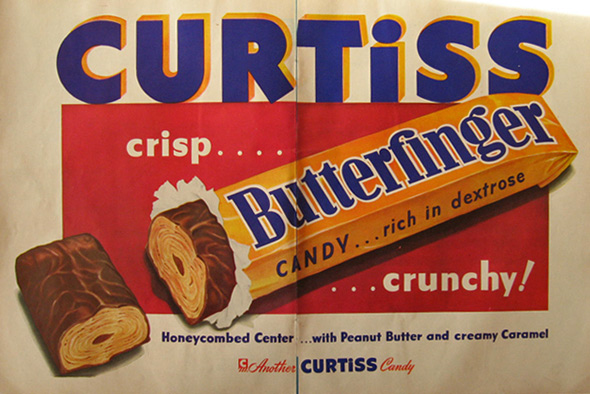 1948 Vintage Butterfinger Candy Bar Ad
