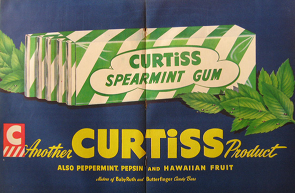 1948 Curtiss Spearmint Gum Ad