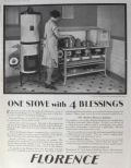 1929 Florence Stove Ad ~ One Stove, 4 Blessings