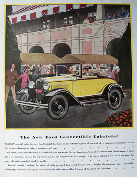 1930 Ford Convertible Cabriolet Ad