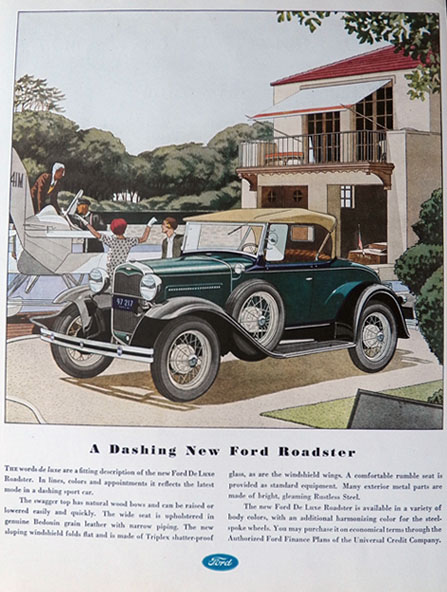 1931 Ford Roadster Ad ~ Dashing