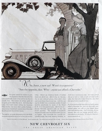 1932 Chevy Six Ad ~ Affordable