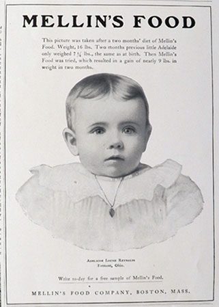 1904 Mellin's Baby Food Ad ~ Adelaide Reynolds, Fremont, OH