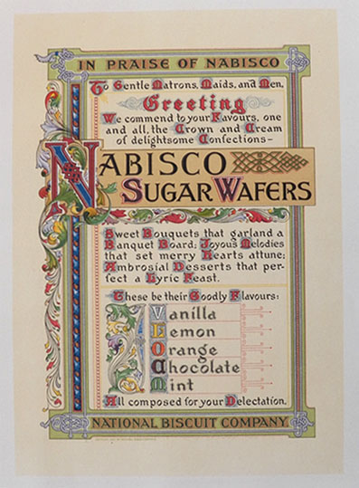 1905 Nabisco Sugar Wafers Ad ~ Two Sided