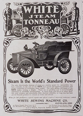 1903 White Steam Tonneau Automobile Ad