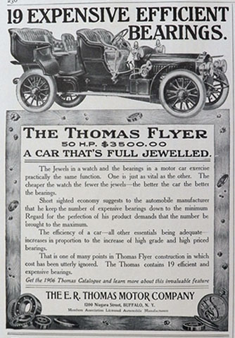 1906 Thomas Flyer Car Ad ~ Full Jewelled
