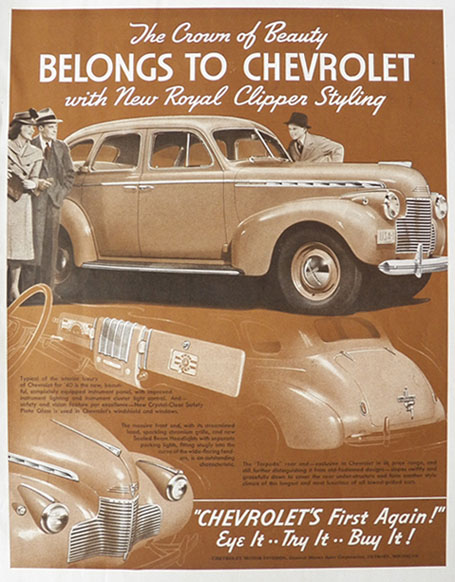 1940 Chevy Ad ~ Royal Clipper Styling