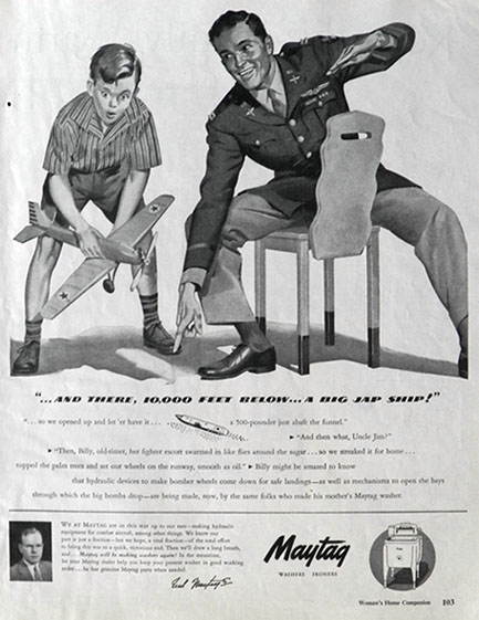 1943 Maytag Washing Machine Ad Big Jap Ship
