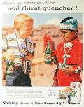 1957 Seven-Up 7-Up Ad ~ Indian Tribe Boy