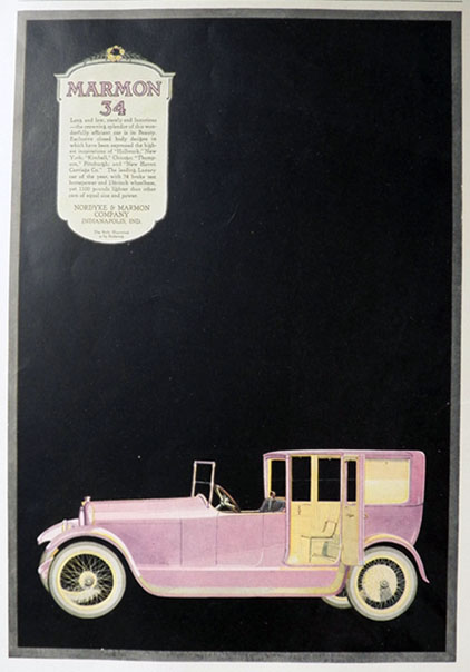1917 Marmon 34 Car Ad ~ Long and Low