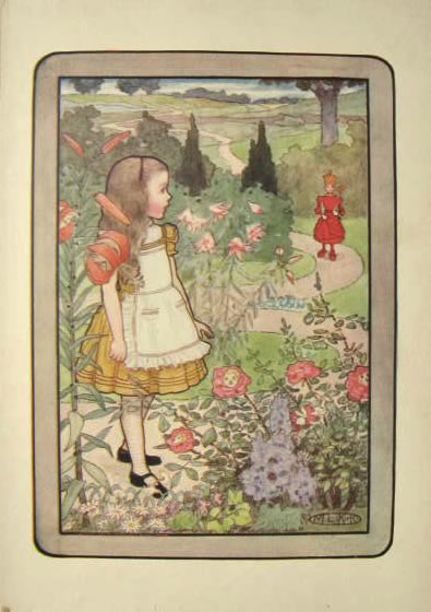 1904 Alice in Wonderland Through the Looking Glass Print