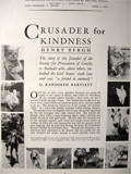 Story of ASPCA's Henry Bergh ~ 1941 Article & Photos
