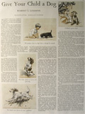Give Your Child a Dog 1931 Morgan Dennis Illustrated Article
