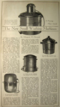 1930 New Small Washing Machines Vintage Illustrated Article