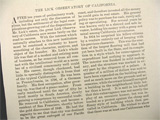 1885 Building the Lick Observatory ~ Old Magazine Article