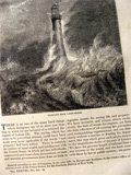 1869 Lighthouses & Policemen of the Sea ~ Old Magazine Article ~ Illustrated