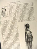 1890 The Russian Army ~ Old Magazine Article ~ Illustrated