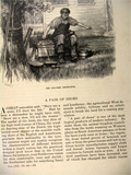 1885 How Shoes Are Made ~ Old Antique Magazine Article ~ Illustrated