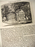 1876 Tombs in Old Trinity Church Cemetery, NY ~ Old Magazine Article