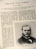 1899 Wall Street in the 19th Century ~ Old Magazine Article ~ Illustrated
