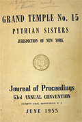 1955 Pythian Sisters Journal of Convention Proceedings, New York