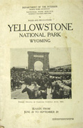 1925 Yellowstone Park Rules & Regulations Booklet