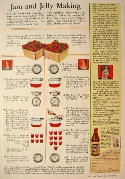 1928 Certo Ad ~ 2 Ways of Jam & Jelly Making