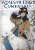 1918 Woman's Home Companion Cover ~ Woman with Borzoi Hounds