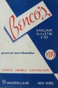 1939 Benco's Gifts & Merchandise Catalog ~ NYC
